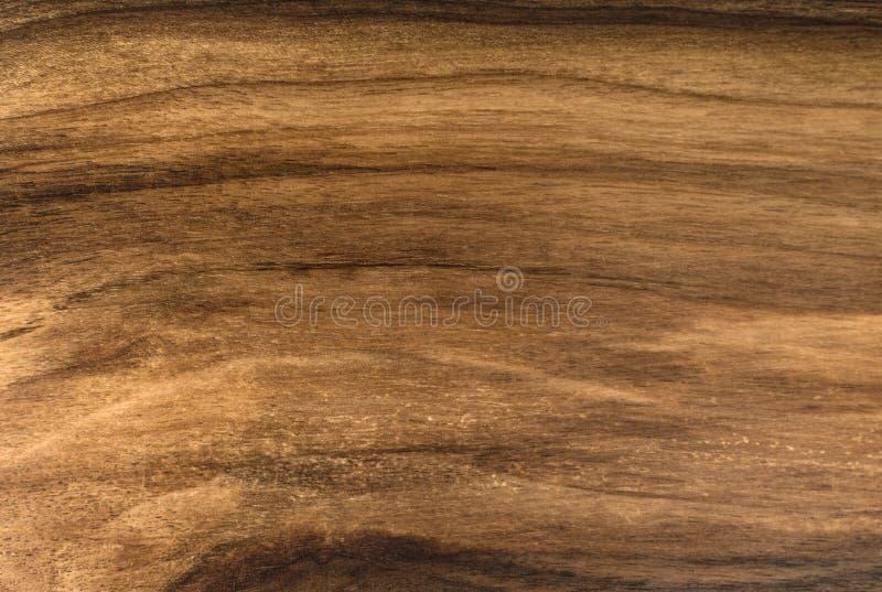 Bruine kleur van de okkernoot de houten textuur royalty-vrije stock afbeelding