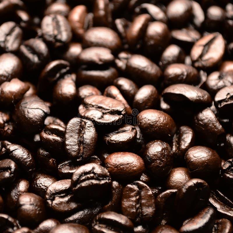 Bruine koffieachtergrond stock foto's