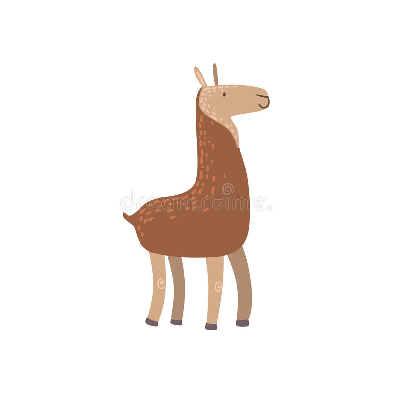 Bruine Lama Status royalty-vrije illustratie
