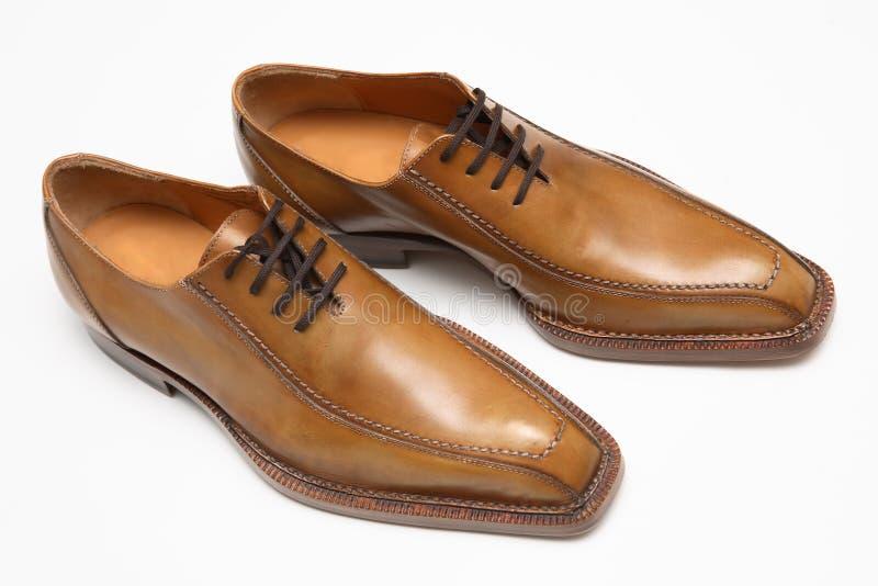 Bruine mannelijke schoenen royalty-vrije stock afbeelding