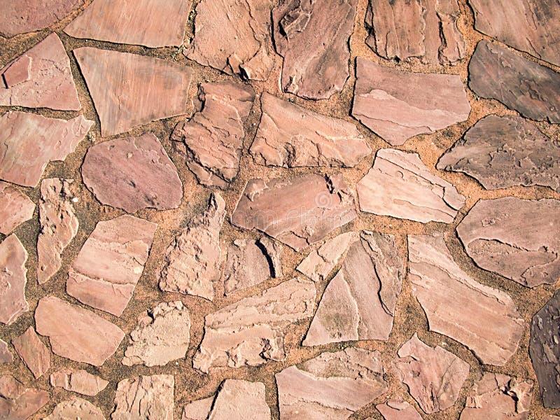 Bruine mosiacvloer royalty-vrije stock afbeeldingen