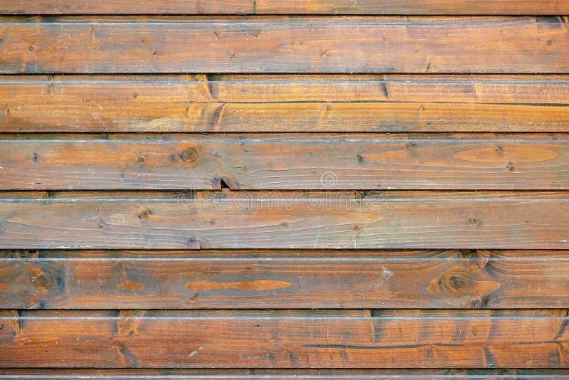Bruine oude houten de textuurachtergrond van de plankmuur royalty-vrije stock afbeeldingen