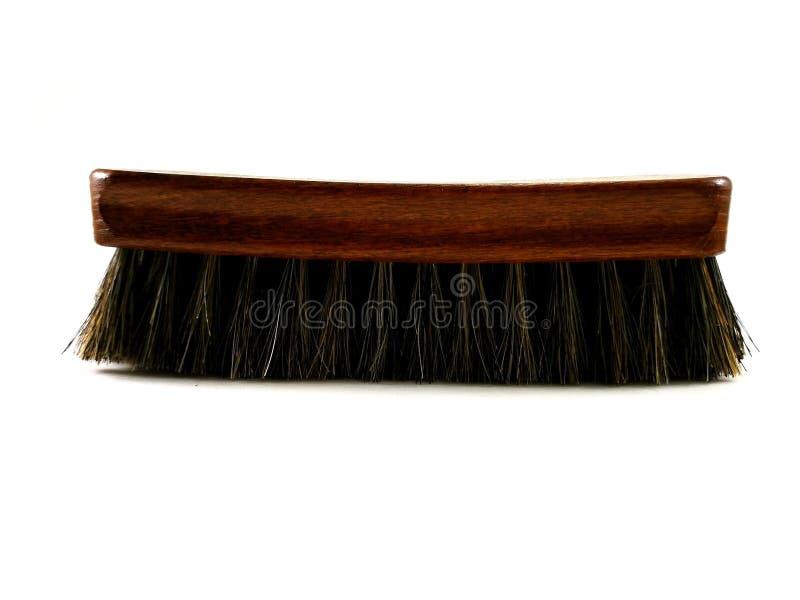 Bruine paardehaarborstel voor het schoonmaken royalty-vrije stock foto