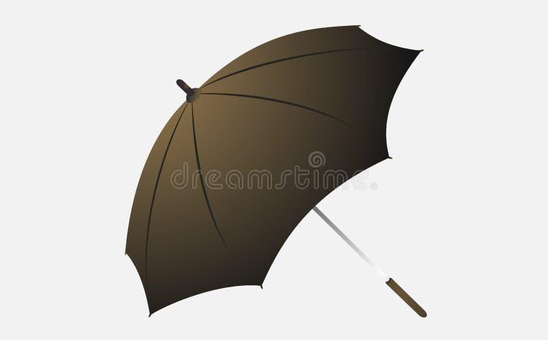Bruine paraplu royalty-vrije stock afbeelding