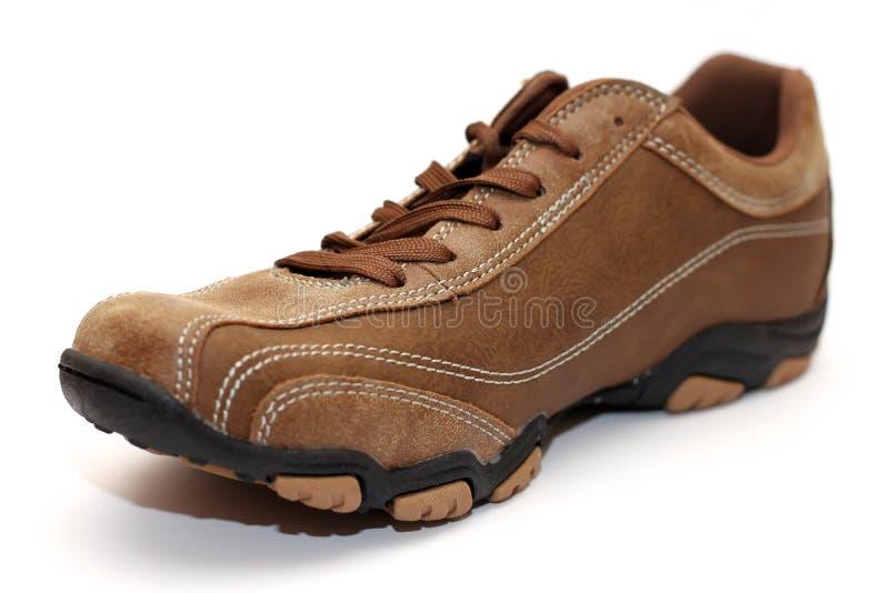 Download Bruine schoen stock afbeelding. Afbeelding bestaande uit kant - 39117811