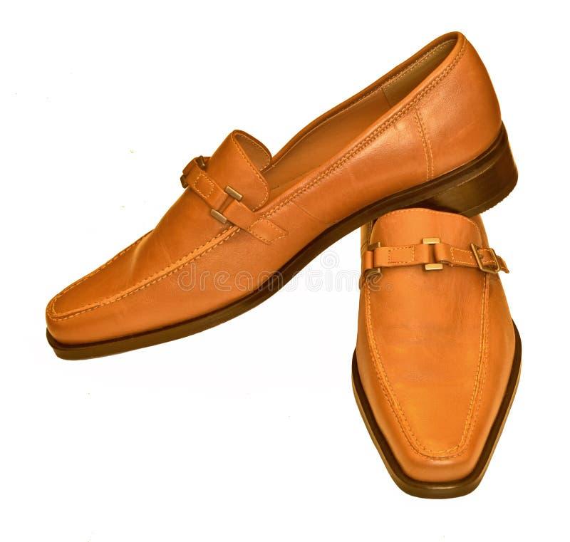 Bruine schoenen stock afbeelding