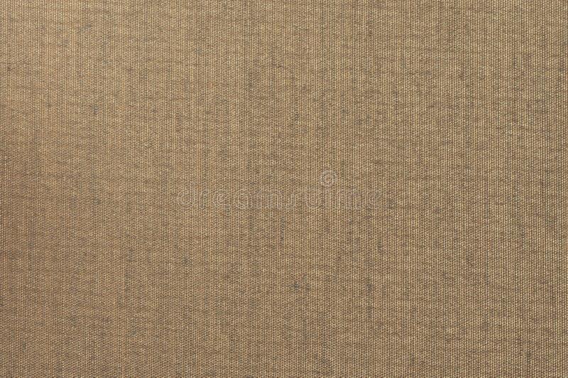 Bruine Textiel het Canvasachtergrond van Grunge royalty-vrije stock afbeeldingen