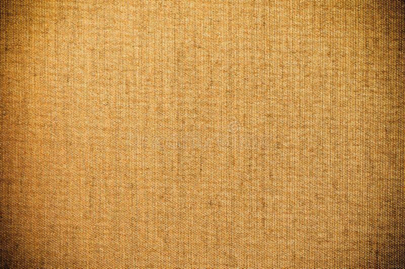 Bruine Textiel het Canvasachtergrond van Grunge royalty-vrije stock afbeelding