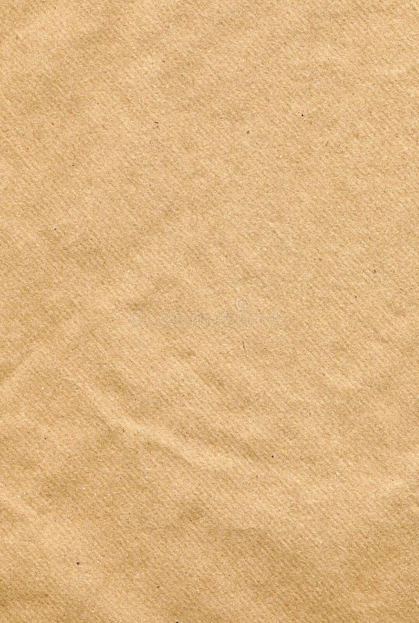 Bruine van het Document van de Verpakking Textuur Als achtergrond stock afbeelding