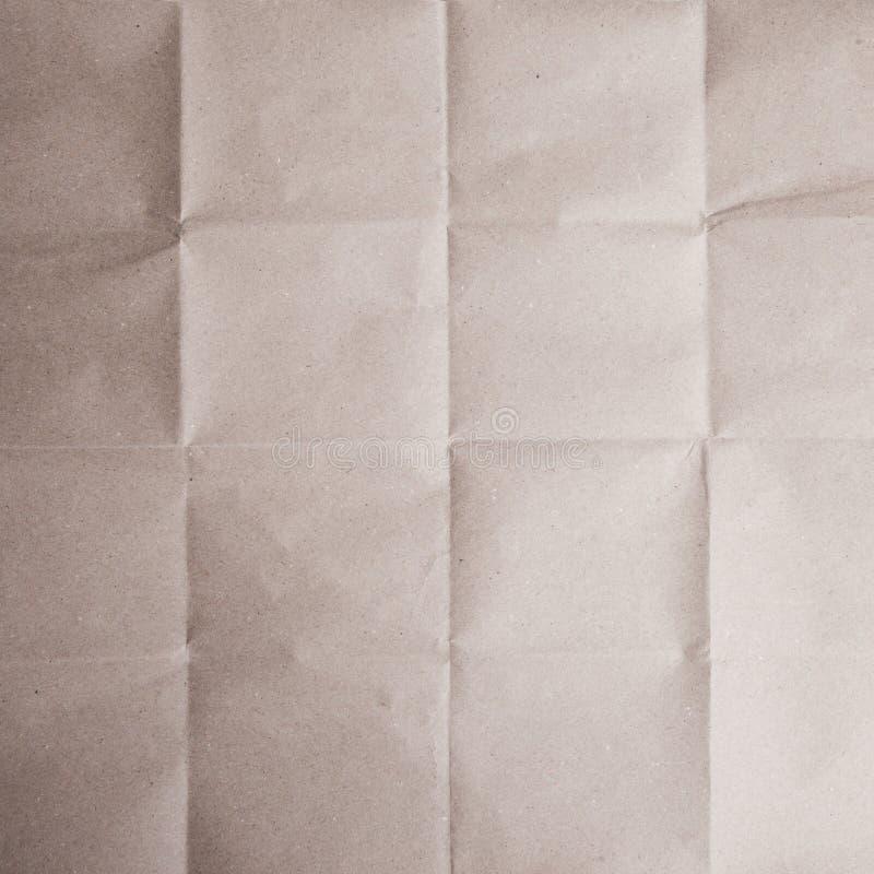 Bruine vouwdocument textuur stock afbeeldingen