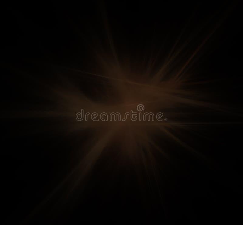 Bruine witte lijnen op zwarte achtergrond Fantasiefractal textuur Digitaal art het 3d teruggeven Computer geproduceerd beeld vector illustratie