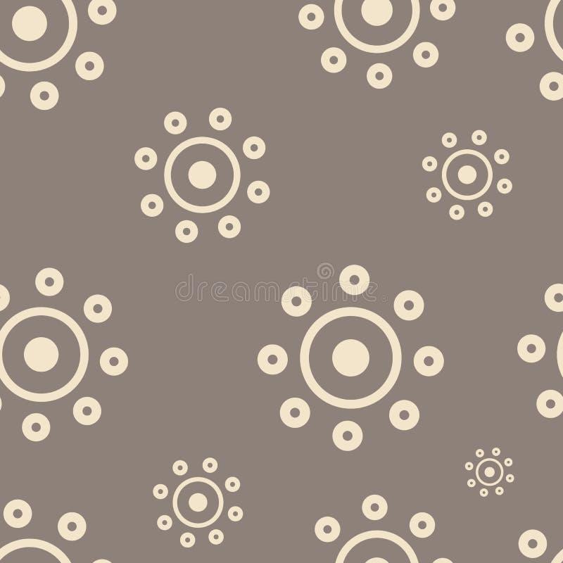 Bruine zon stock illustratie
