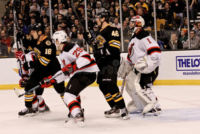 Bruins V. Devils Ice Hockey Editorial Photography