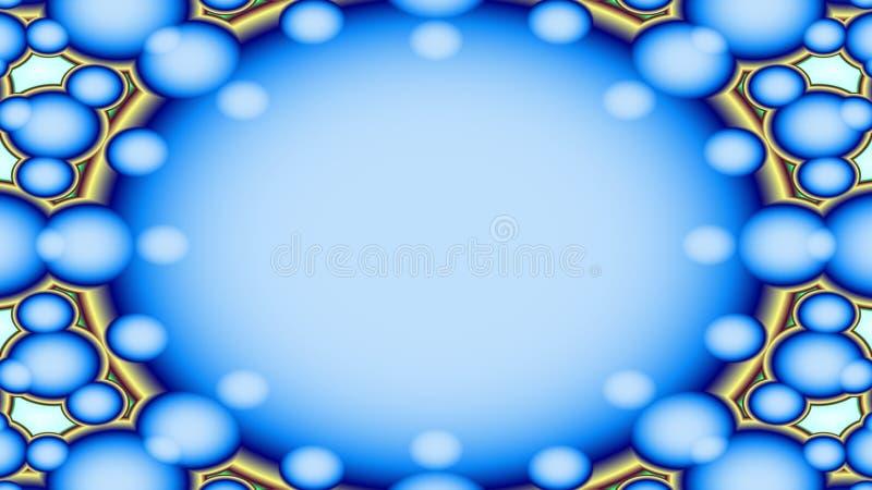 Bruisend blauwachtig kader vector illustratie