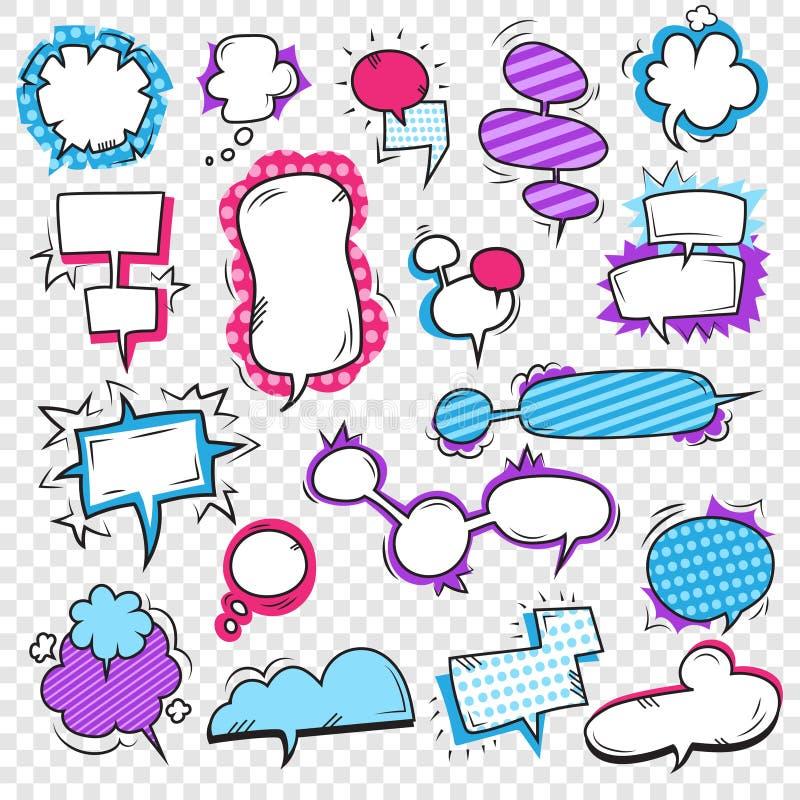 Bruit Art Bubbles Set illustration libre de droits