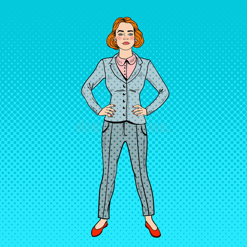 Bruit Art Confident Successful Business Woman illustration libre de droits