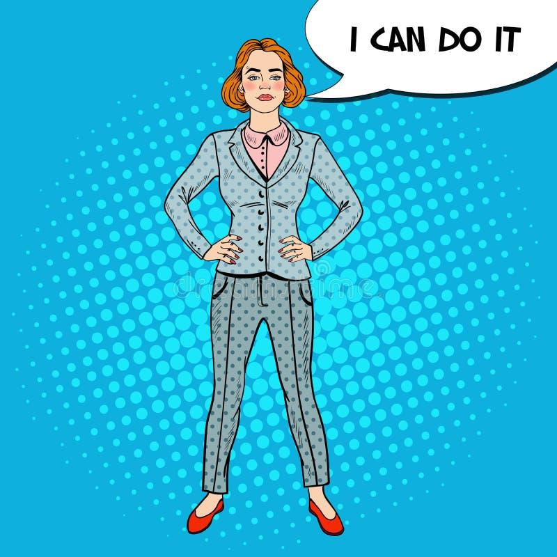 Bruit Art Elegant Successful Business Woman illustration de vecteur