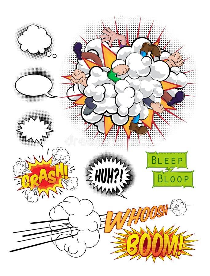 Bruit Art Graphics de bande dessinée illustration libre de droits