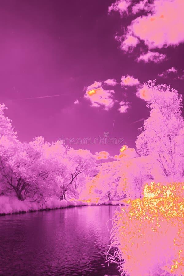 Bruit Art Landscape illustration stock