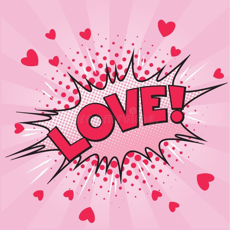 Bruit Art Love Valentine Card illustration de vecteur
