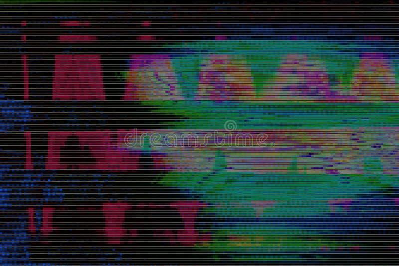 Bruit d'objet façonné de fond de VHS de problème, conception illustration stock