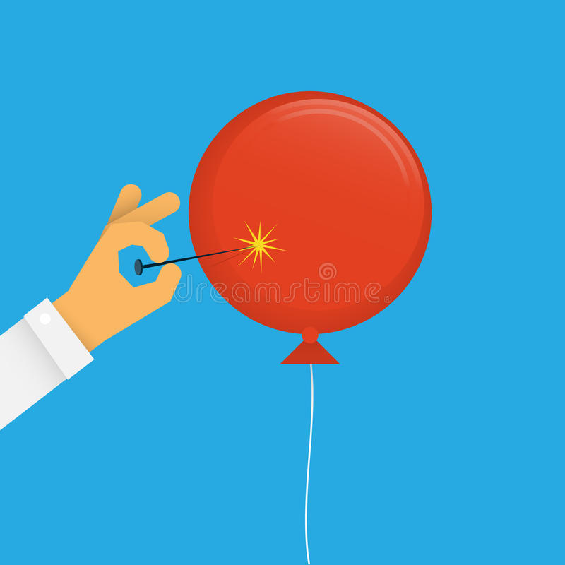 Bruit de ballon illustration libre de droits