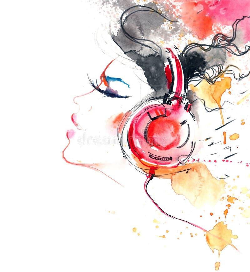 Bruit de la musique illustration libre de droits