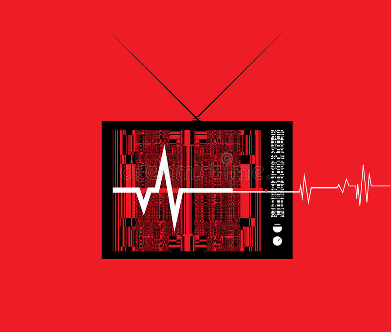 Bruit de TV photo stock