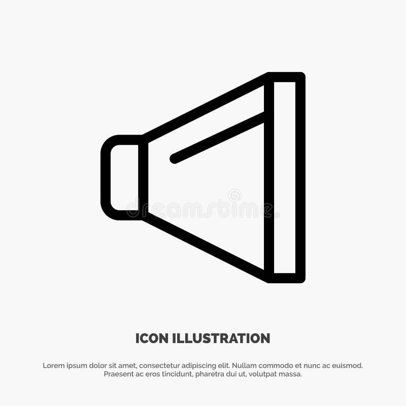 Bruit, haut-parleur, ligne vecteur de volume d'icône illustration libre de droits