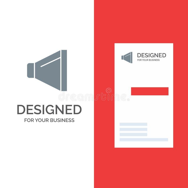 Bruit, haut-parleur, volume Grey Logo Design et calibre de carte de visite professionnelle de visite illustration stock