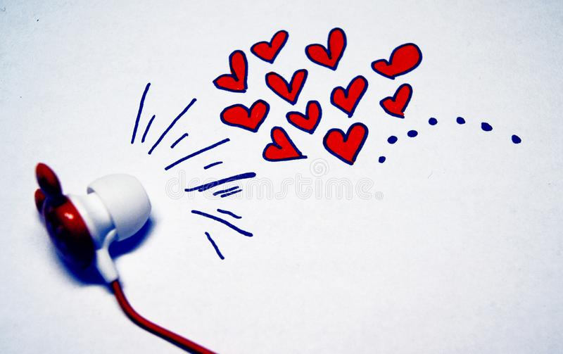 Bruits de musique d'amour photographie stock