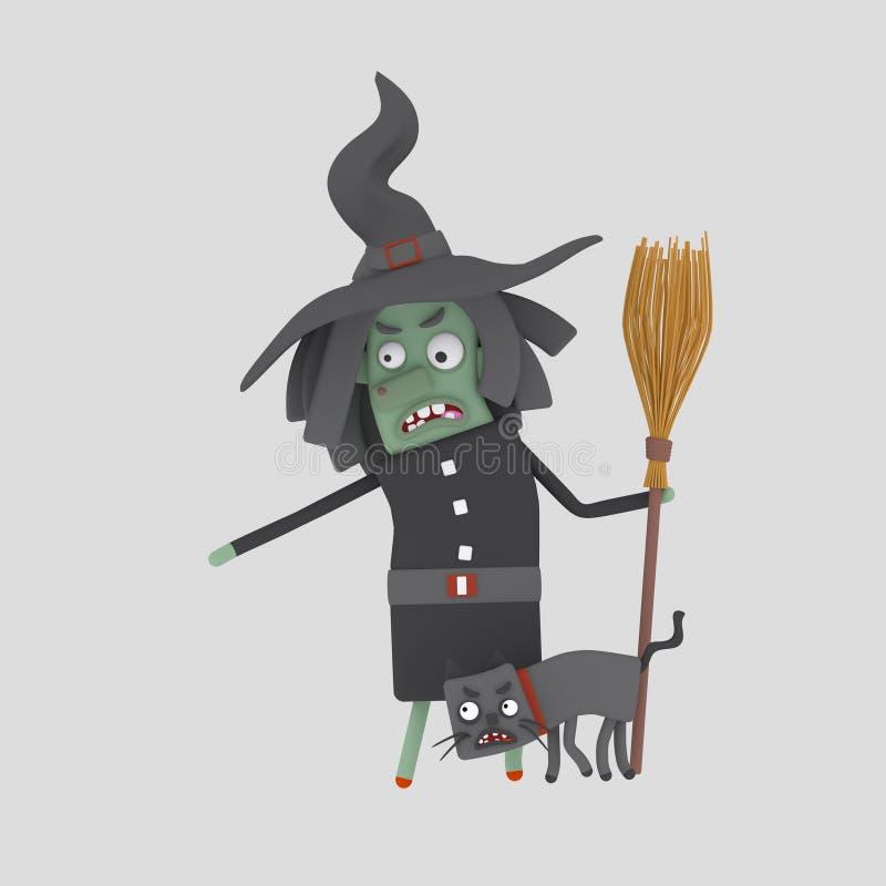 Bruja enojada 3d libre illustration