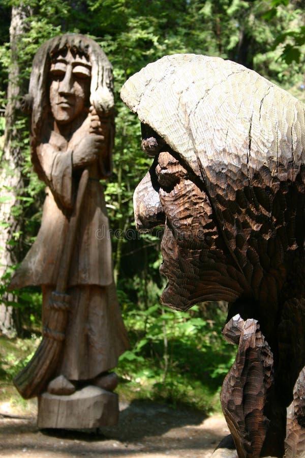 Brujas de madera imagen de archivo libre de regalías