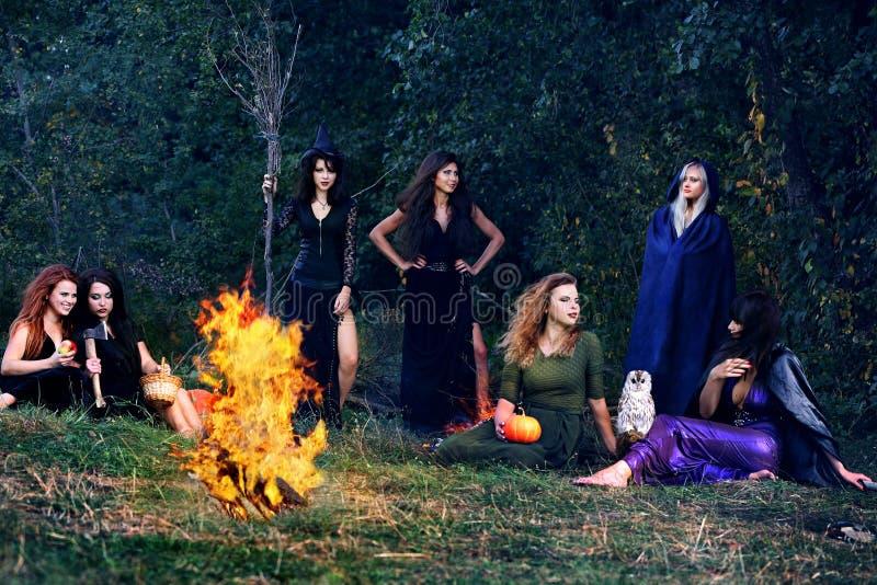 Brujas en el Sabat imagen de archivo