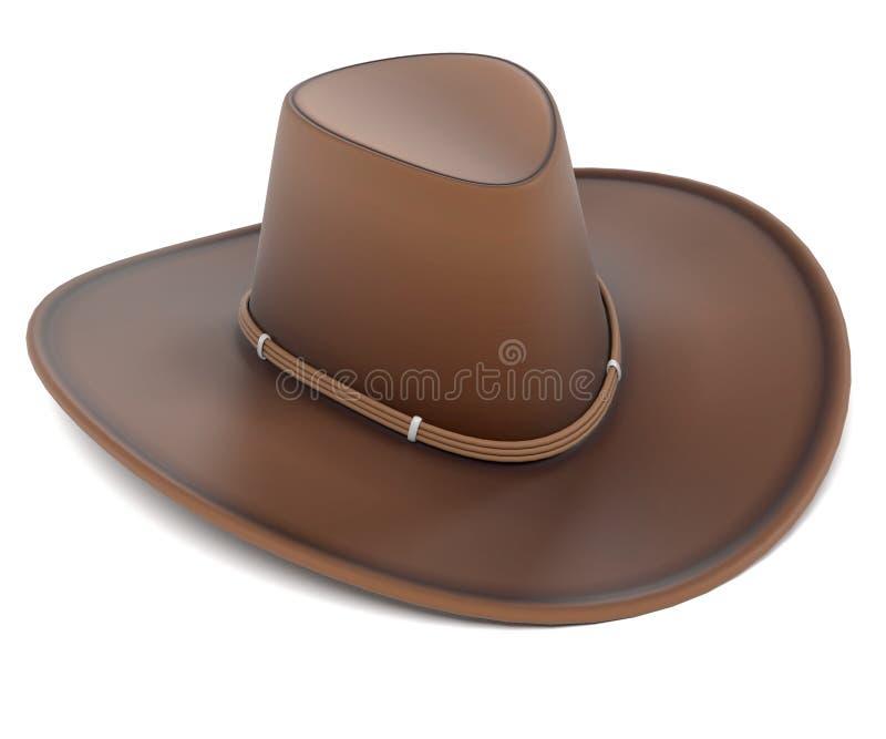 bruk för ritt för häst för cowboyhatt royaltyfri illustrationer