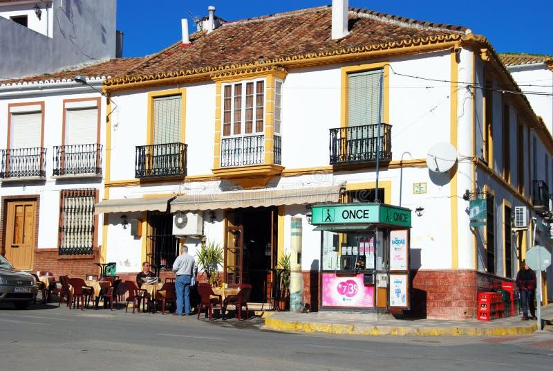 Bruk kawiarnia, Colmenar, Hiszpania. zdjęcie royalty free