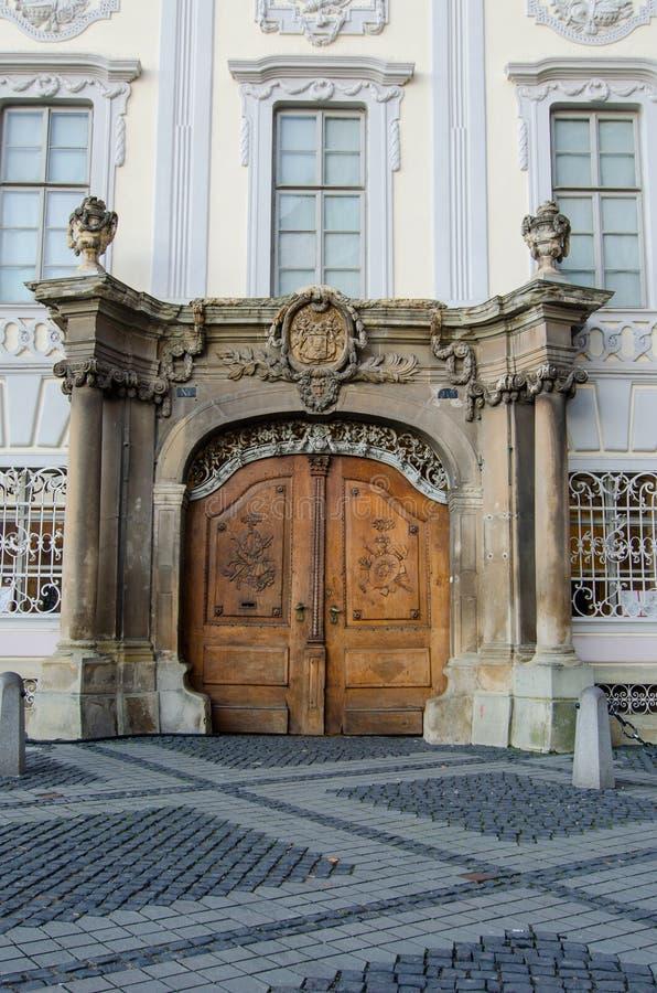 Brukenthal博物馆门,罗马尼亚 库存照片