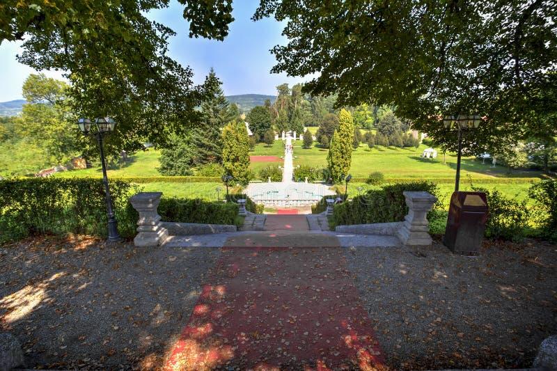 Brukenthal gardens, Romania royalty free stock photo