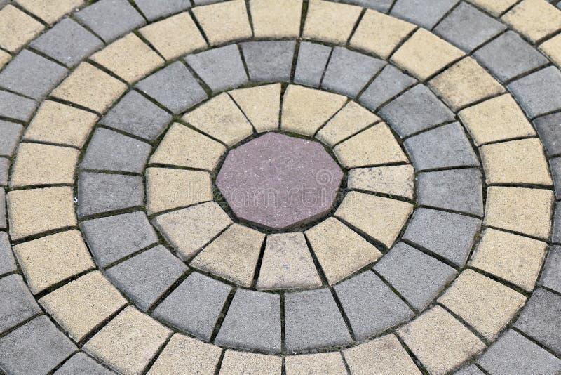 Brukowa owalu wzór zdjęcie royalty free