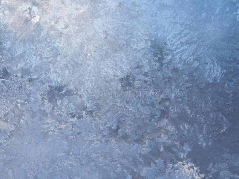 Brukowa wzór od lodu na Nadokiennej tafli zdjęcie royalty free