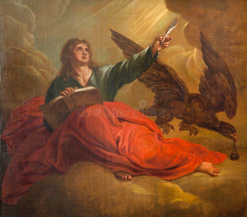 Bruksela - Świątobliwy John ewangelista obrazy royalty free