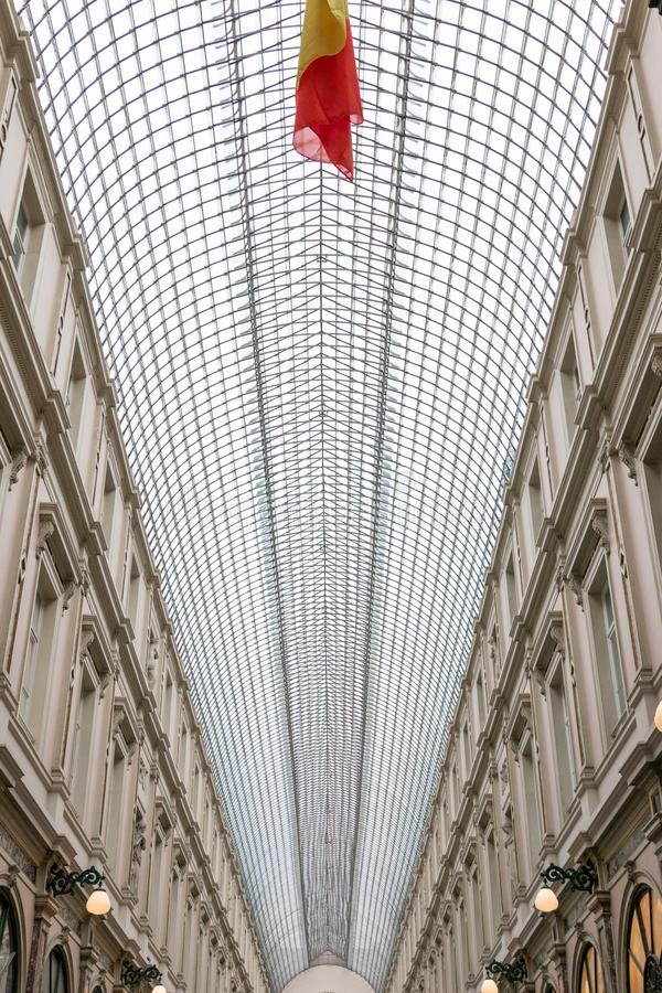 Bruksela/Belgium-01 02 19: Galeria De Los angeles Reine Brukselska galeria królowa zdjęcia royalty free