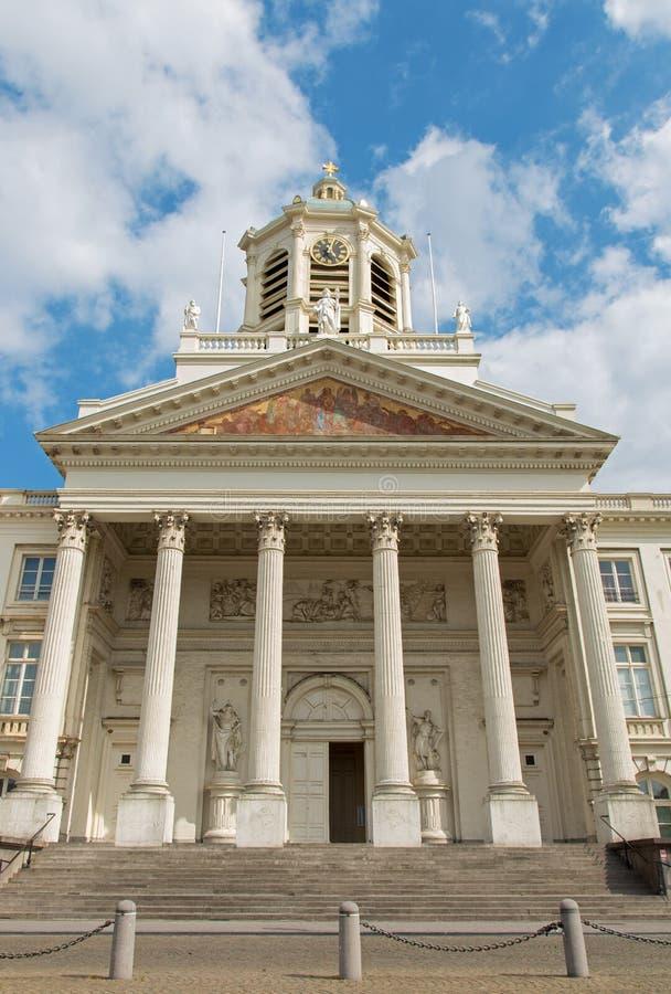 Bruksela - neoklasyczny kościół St Jacques obrazy royalty free