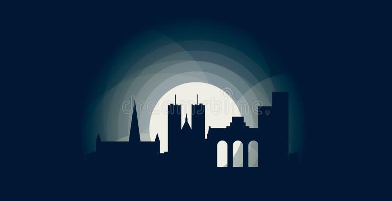 Brukselskiego miasta linii horyzontu loga chłodno ilustracja ilustracja wektor