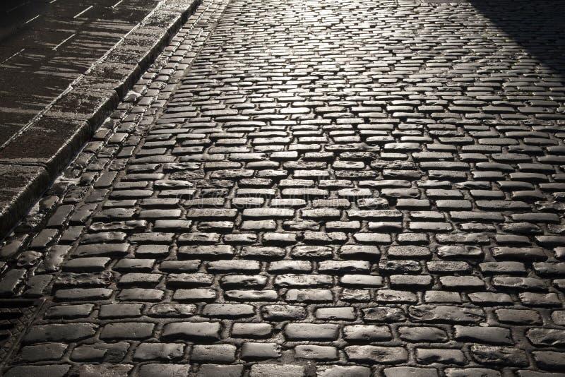 Brukująca ulica świątynia bar, Dublin fotografia stock