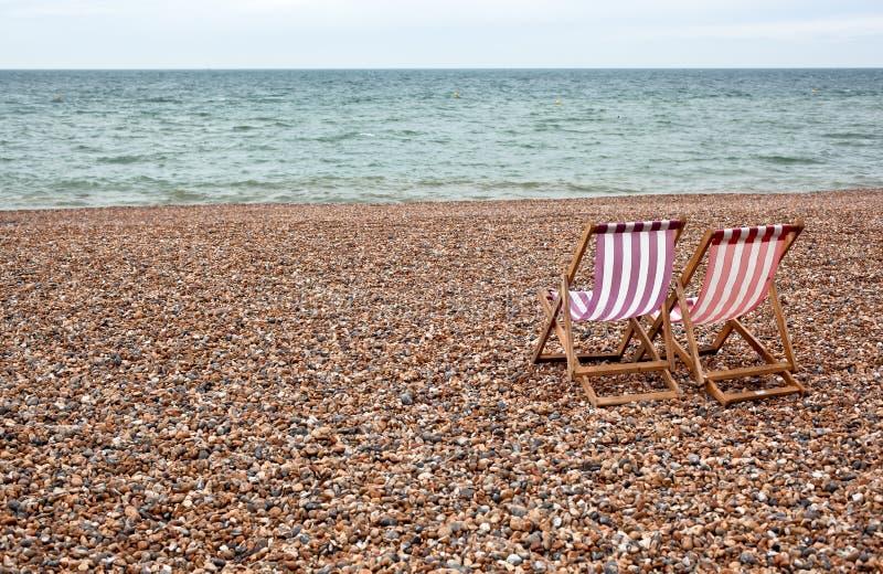 brukujący plażowi krzesła fotografia royalty free