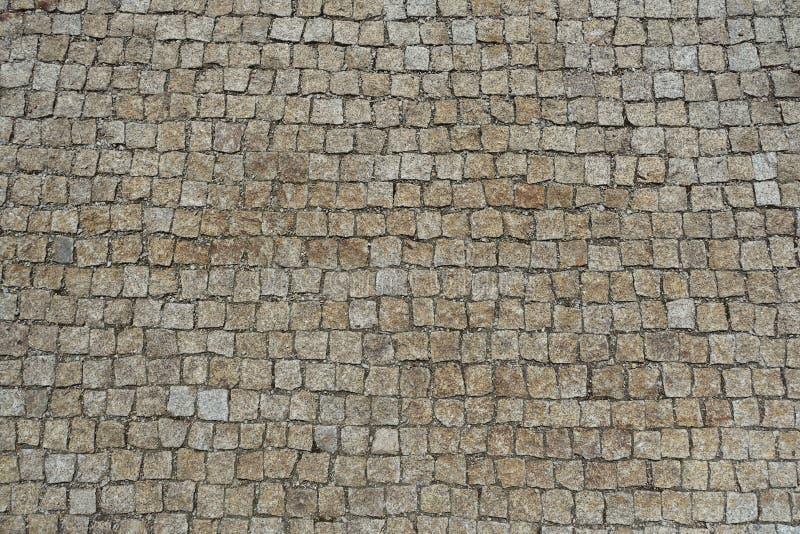 Brukuje kamienia Ulicznego Brukowego tło obraz royalty free