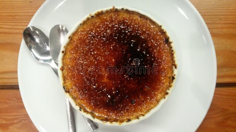 brulee caramelised ваниль cream сахара десерта creme французского верхняя традиционная стоковые изображения