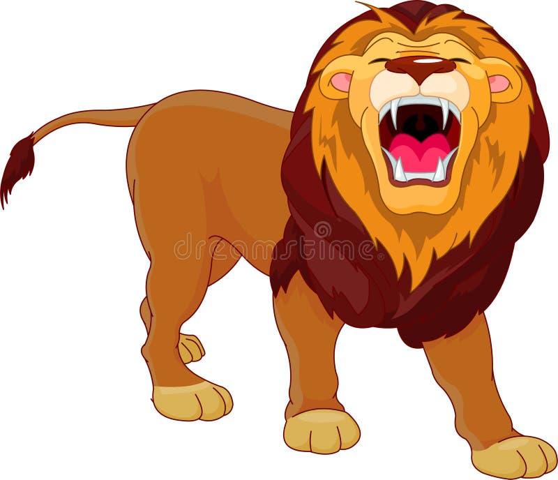 Brullende leeuw royalty-vrije illustratie