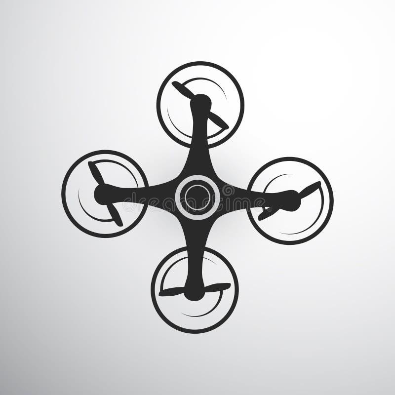 Brummen- oder quadcopterikone stock abbildung